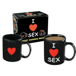 Spencer & Fleetwood I Love Sex Heat Change Mug